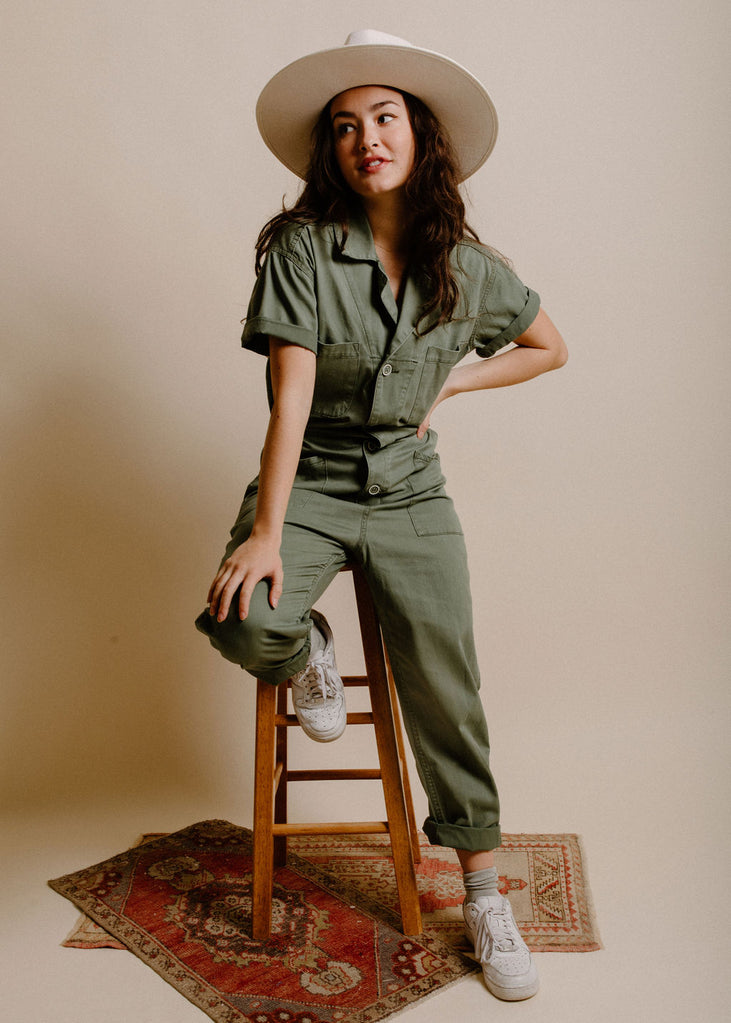 Grover Jumpsuit - Olive