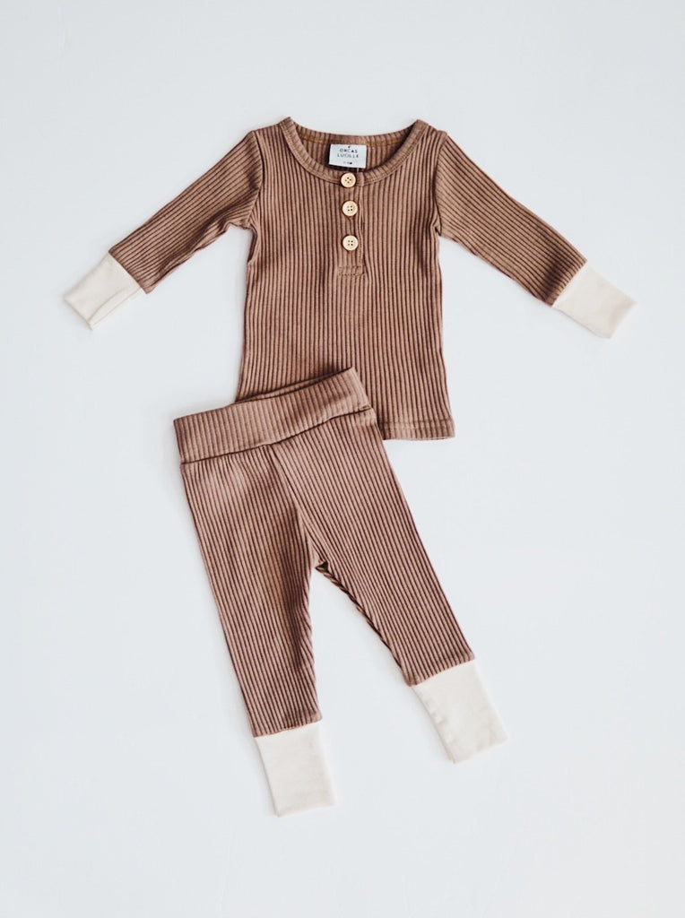 Ribbed Set - Mocha