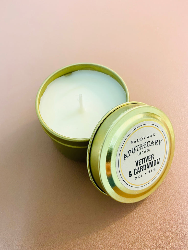 Apothecary, Vetiver + Cardamom, Travel Tin