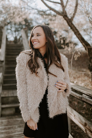 Veronica Fur Jacket - Tan