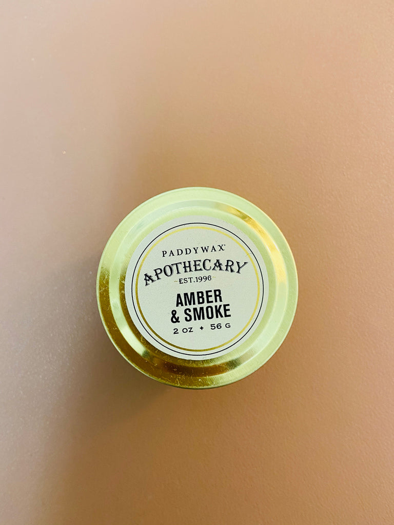 Apothecary, Amber + Smoke, Travel Tin