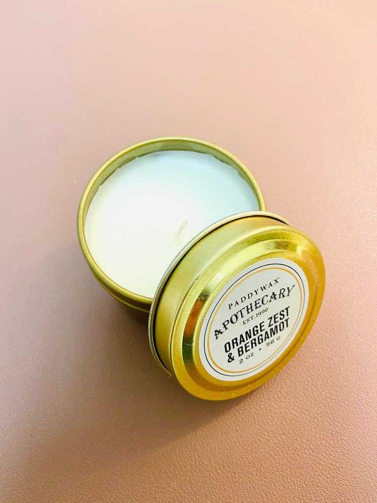 Apothecary, Tin 2 oz, Orange Zest + Bergamot