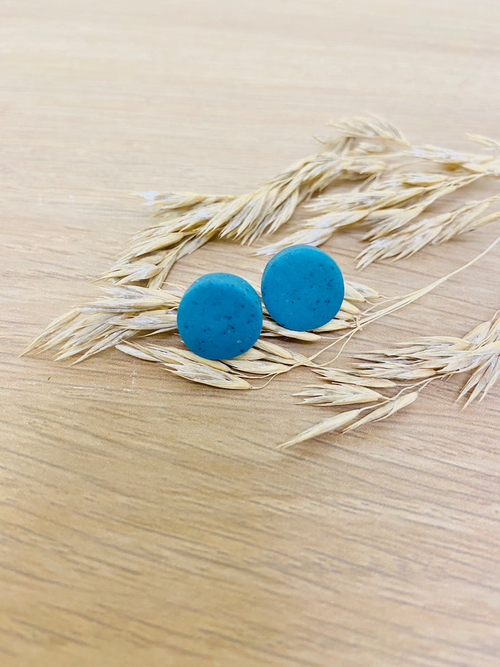 Faux Granite Studs - Turquoise