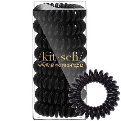 8 Pack Hair Coils - Black