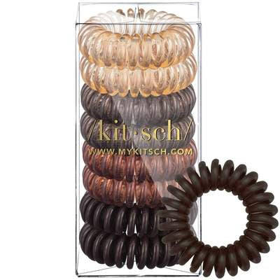 8 Pack Hair Coils - Brunette