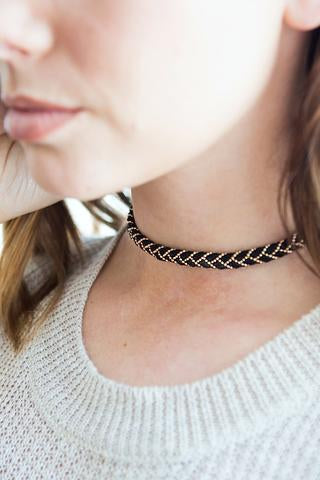 Braided Suede Choker