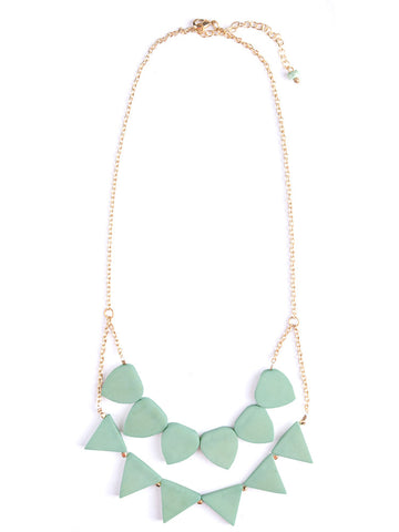 Rising Sun Necklace - Mint