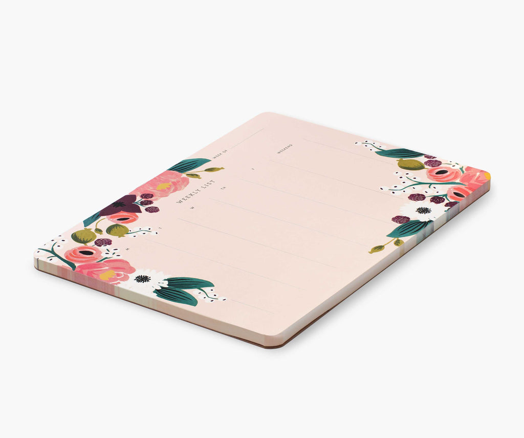 Rifle Paper Co - Pink Floral Weekly Desk Pad