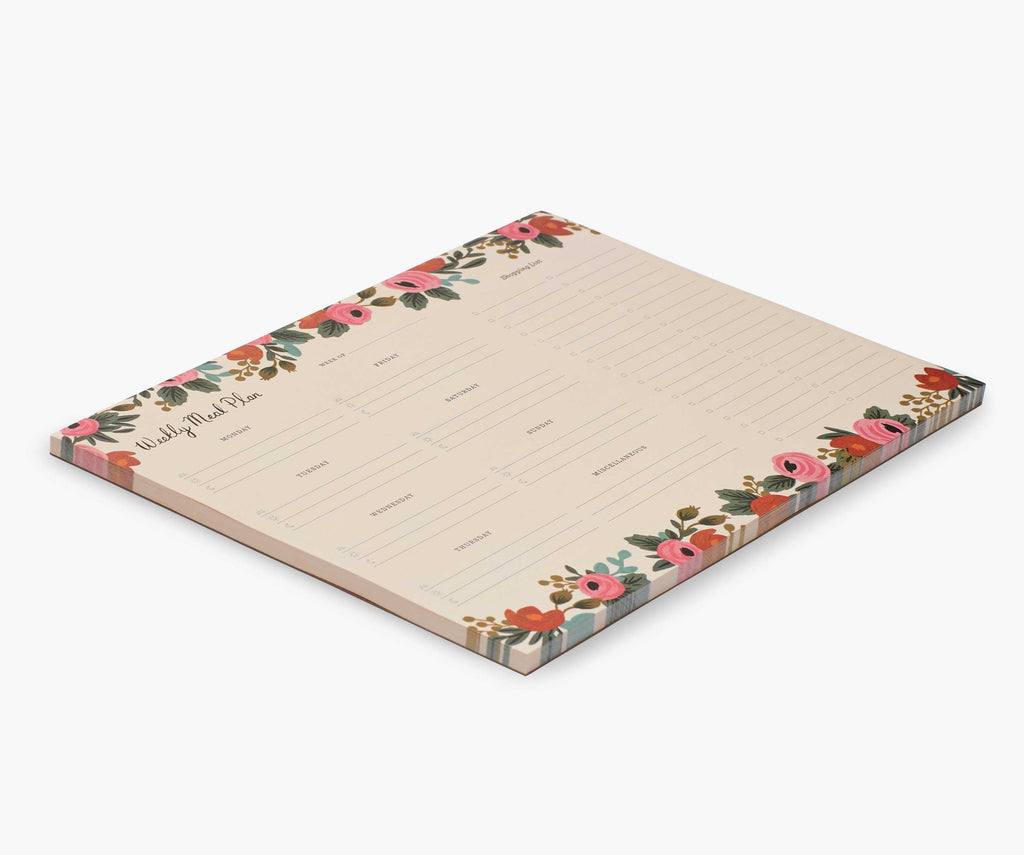 Rifle Paper Co - Rosa Meal Planner Notepad