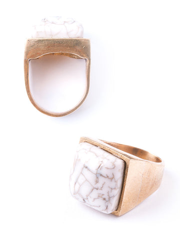 Rothko Ring - White