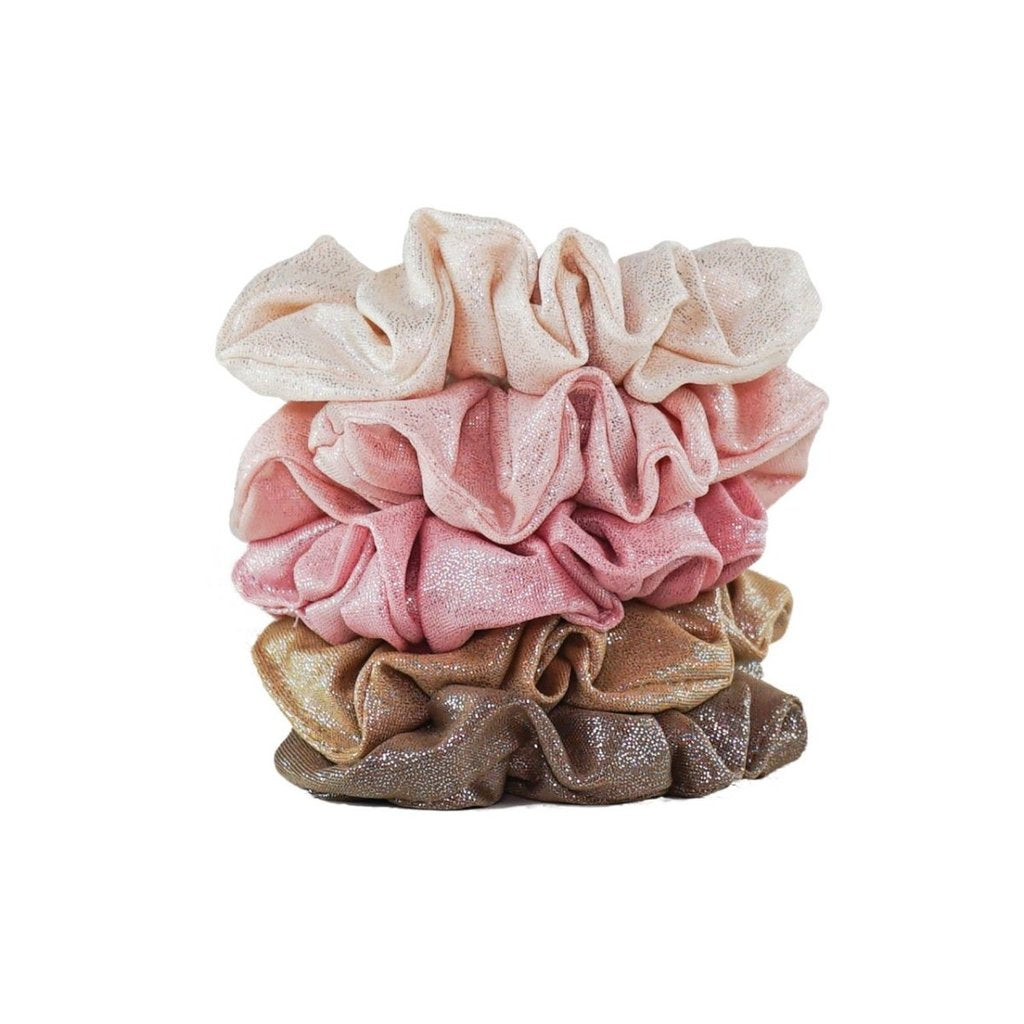 Metallic Scrunchies- Blush/Mauve