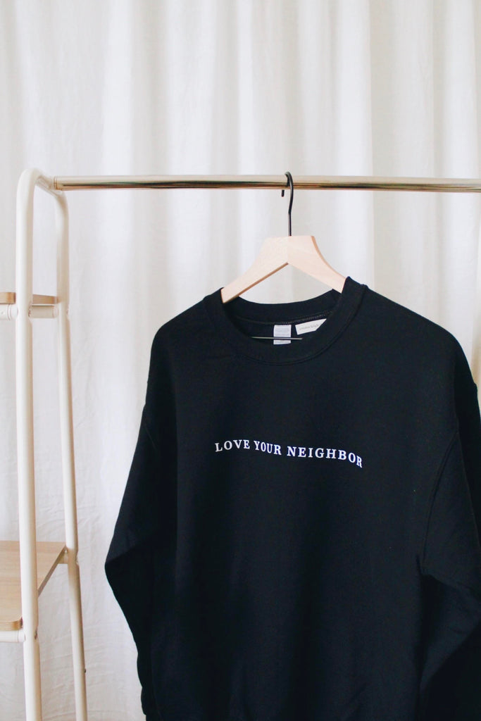 Love Neighbor Sweatshirt - Black