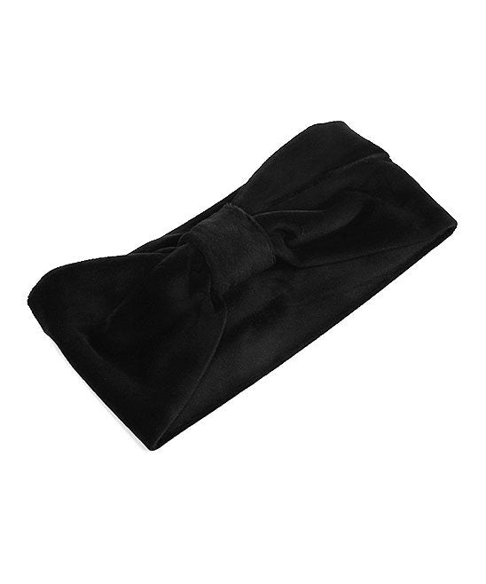 Suede Headband - Black