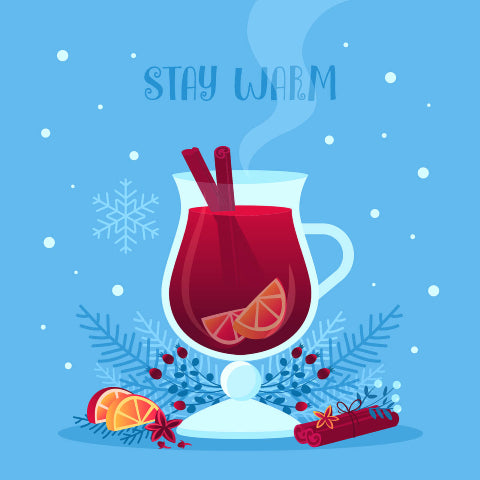 Stay warm with mulled wine in a glass