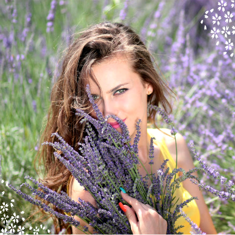 Girl with lavender image