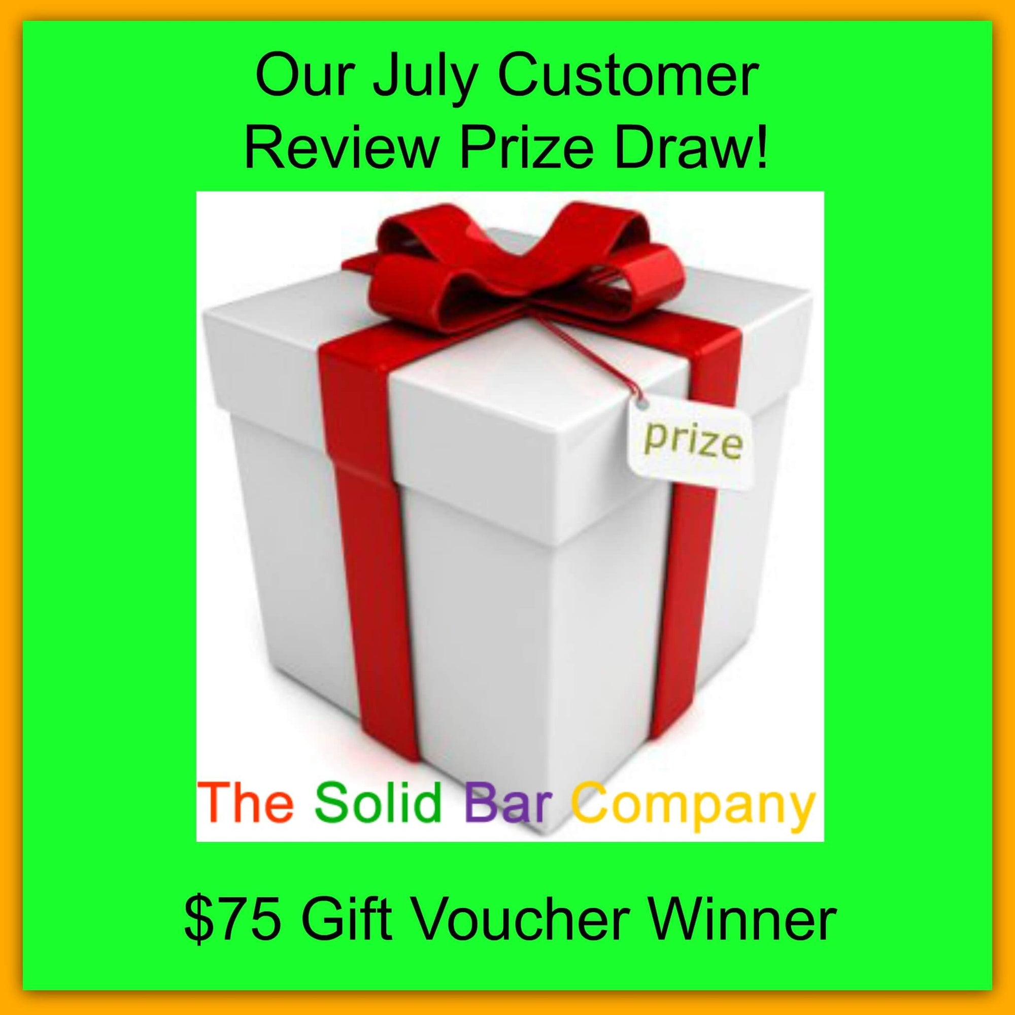 $75 Gift Voucher Winner - Our July Customer Review Prize Draw! 2016