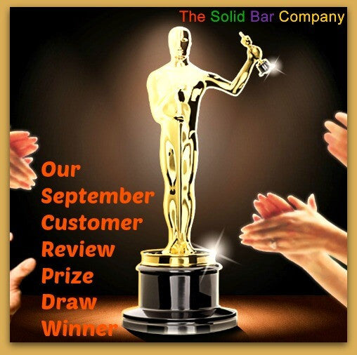 September Customer Review Prize Draw Winner for The Solid Bar Company