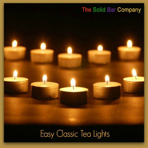 Easy Classic Tea Lights from The Solid Bar Company