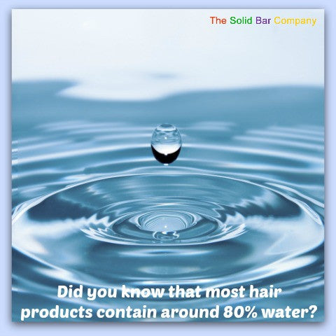 The Solid Bar Company Hair Products Contain No Water!