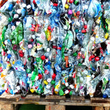 A pallet of plastic waste