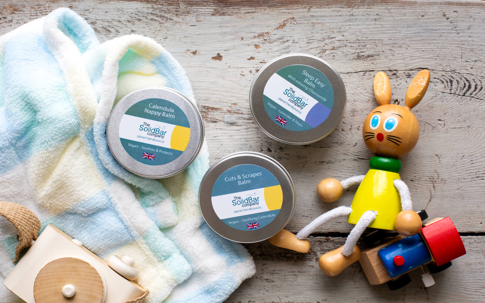 Nappy balm, sleep easy balm cuts and scrapes balm