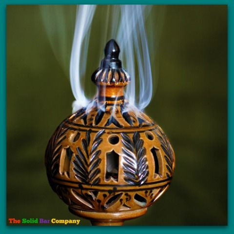 Image of incense burner with sandalwood