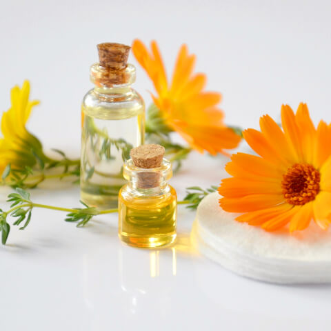 Marigolds and essential oils