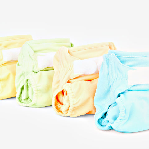 Clean cloth nappies