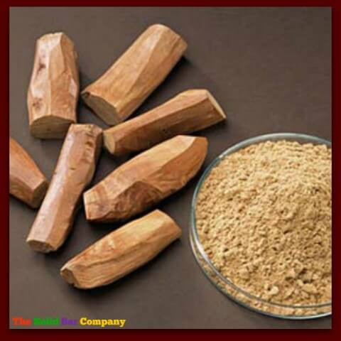 Image of sandalwood sticks and powder