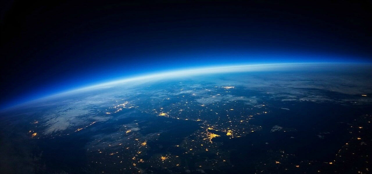 View from space of the planet Earth silicon free and plastic free