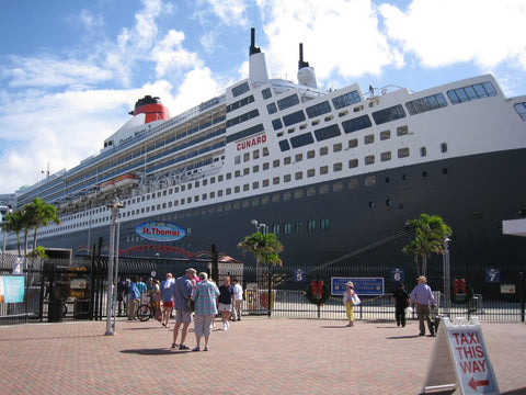 Queen Mary 2 in St Thomas USVI