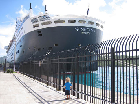 Queen Mary 2 at St Thomas USVI
