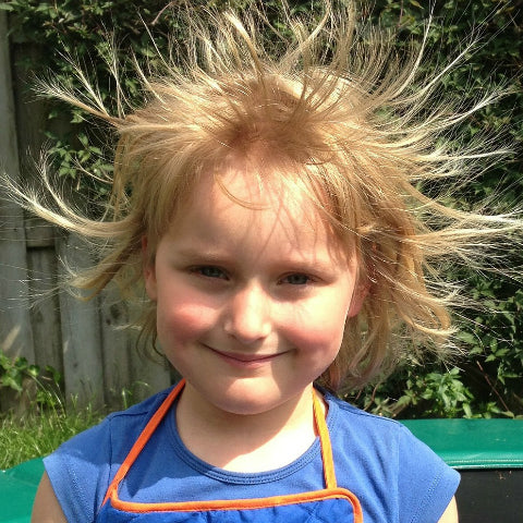 Static electricity on hair