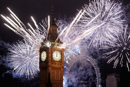 Firework Night Around Big Ben