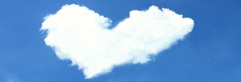 Image of a heart-shaped cloud