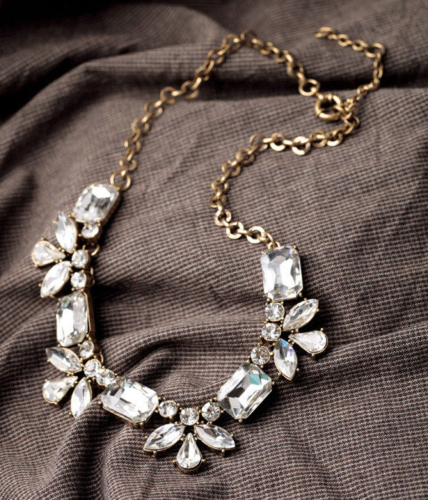"""Lilah"" Crystal Statement Necklace - SALE"