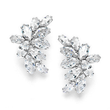 Art Deco Vintage Pave CZ Dangle Earrings