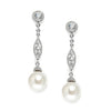 Emily Vintage Pearl Filigree Drop Earrings