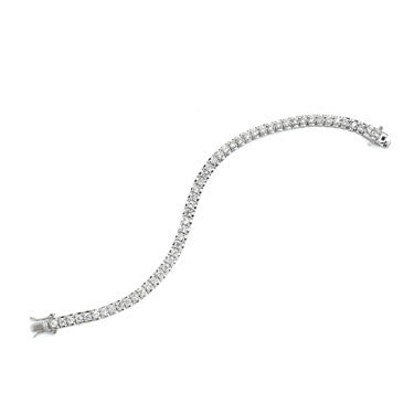 Cameron 14k Gold Plated Three Row CZ Tennis Bracelet