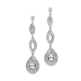 Delicate Gold Micro Pave CZ Teardrop Earrings
