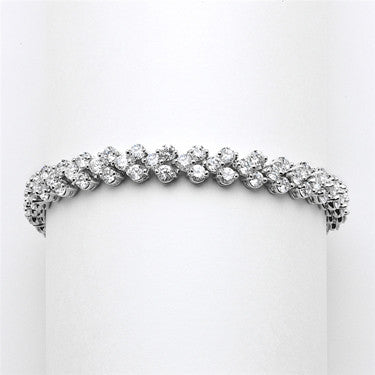 Jenna Oval CZ Wedding Bracelet