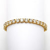 Glam 14k Gold Plated Round CZ Tennis Bracelet
