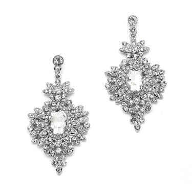 """Peyton"" Intriciate Art Deco CZ Dangle Earrings"