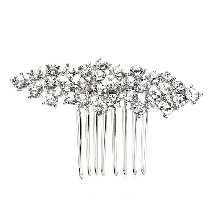 Eleanor Crystal Cluster Bridal Hair Comb