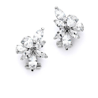 Laurel French Cluster CZ Earrings