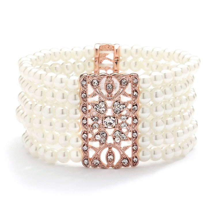 Heidi Rose Gold  Vintage Stretch Bracelet