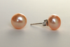 Genuine 8 MM Sterling Silver Cultured Freshwater Pearl Stud Earrings