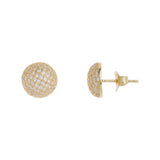 Millie 14k Gold Plated CZ Bridesmaid Button Earrings