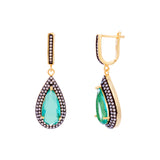 Jayde 14k Gold Plated Nano White Opal Drop Earrings