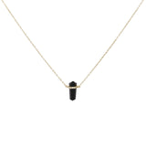 Paisley 14k Gold Plated Black Onyx Prism Pendant